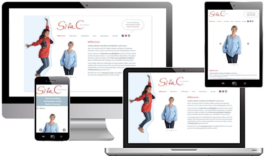 Responsives Webdesign für Sita C. - fair fashion aus Köln