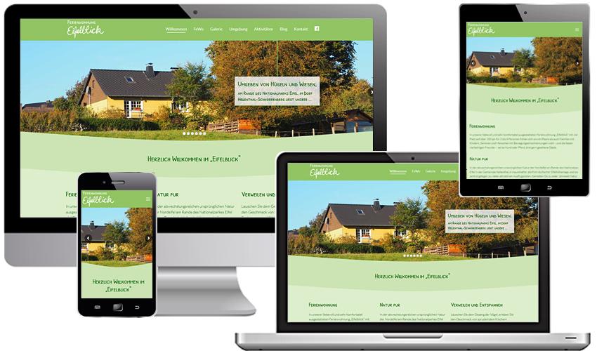 Webdesign Relaunch Ferienwohnung Eifelblick
