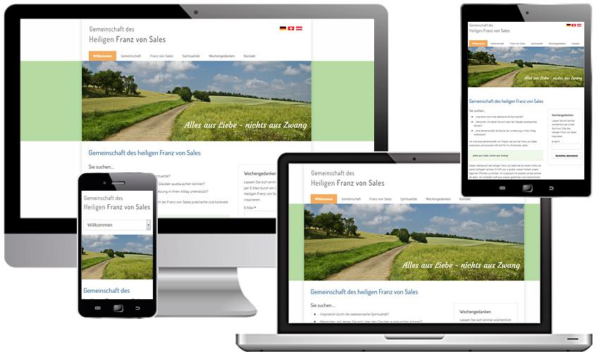 Webdesign für die Gemeinschaft des Hl. Franz von Sales