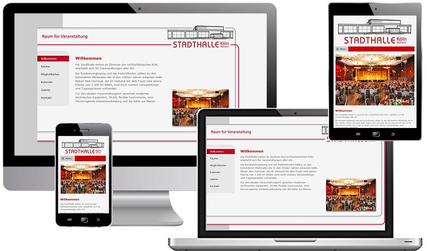 Responsive Webdesign für die Stadthalle Köln-Mülheim
