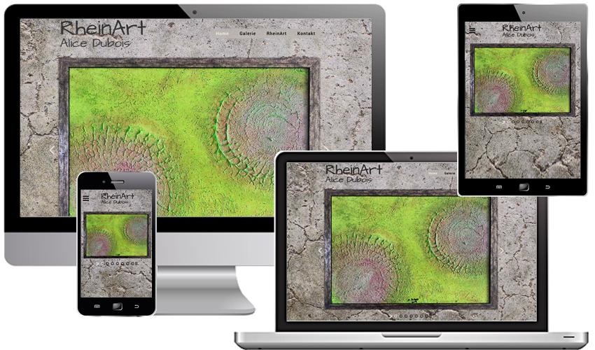 Individuelles Webdesign für die Kölner Künstlerin Alice Dubois