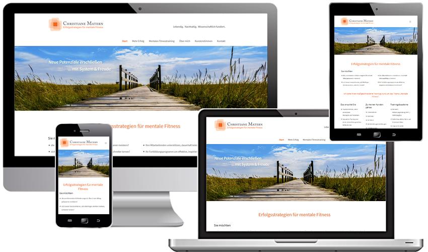 Webdesign für Christiane Matern - Erfolgstrategien für mentale Fitness