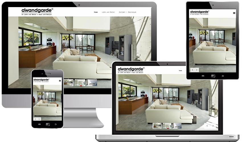 OnePager für aWandgarde® in Lehm und Beton - Stefan Zeimet
