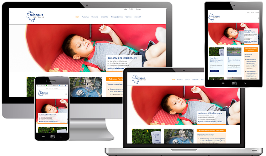 Responsive Webdesign für Autismus Köln/Bonn e.V.
