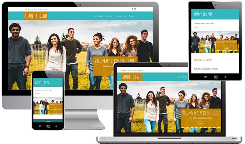 Europe for all - Freiwilligendienst für alle - Projekt-Website
